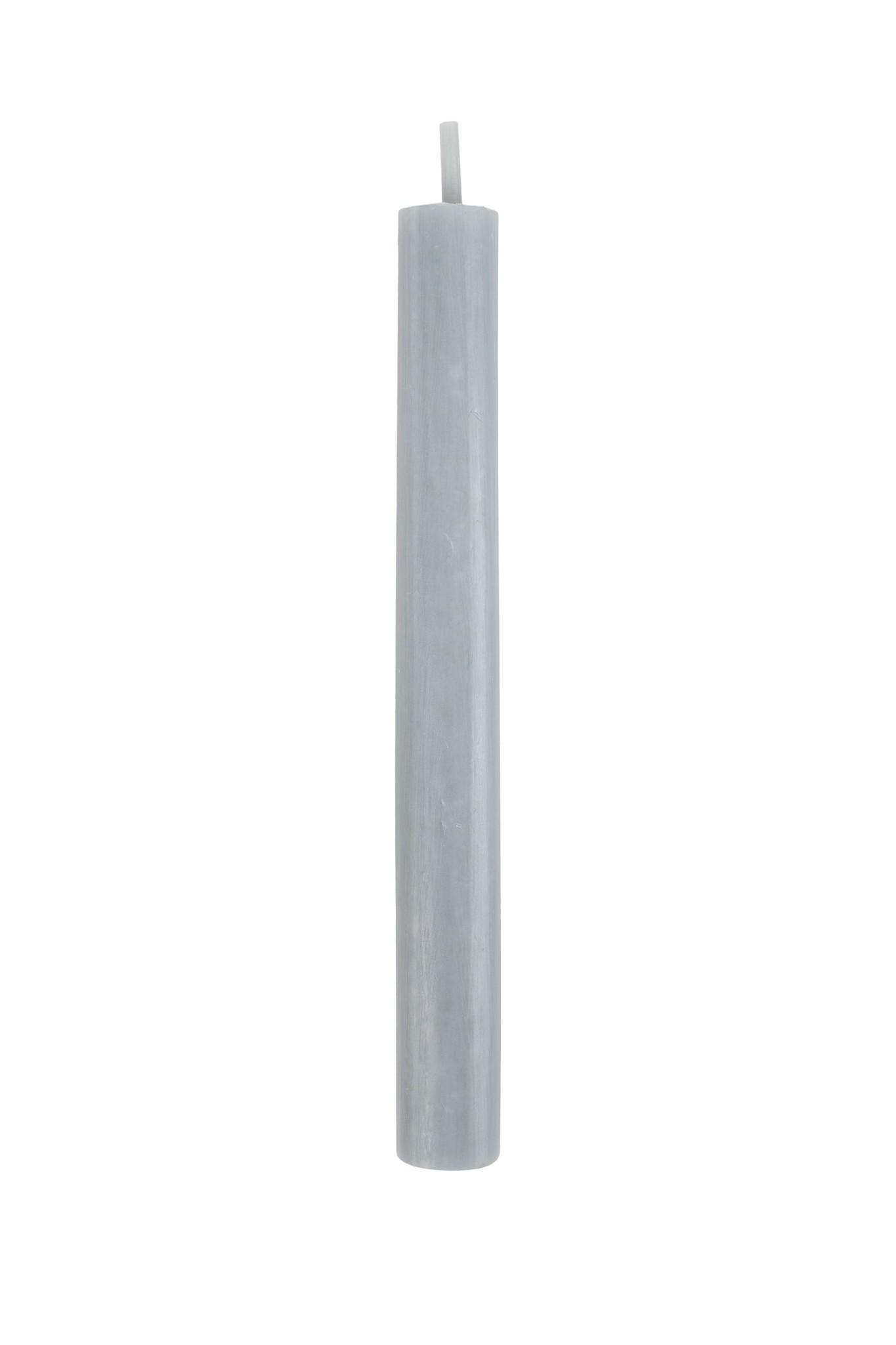 Zusss Rustieke kaars 20cm - grijs/blauw