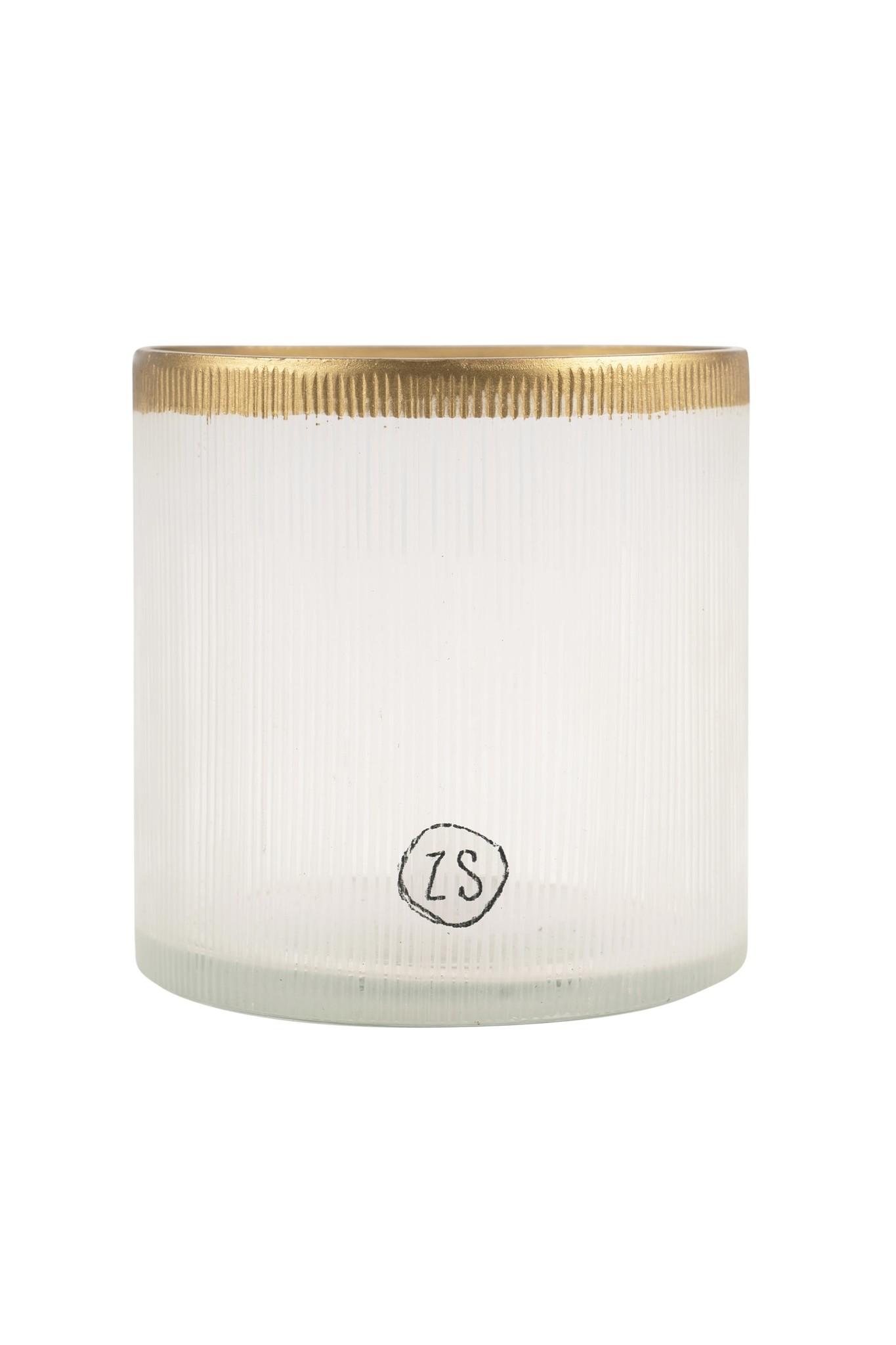 Zusss Waxinelichthouder glas - goud