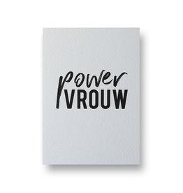 Wenskaart - power vrouw