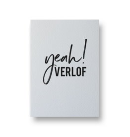 Wenskaart - yeah! verlof