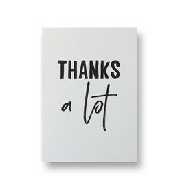 Wenskaart - thanks a lot