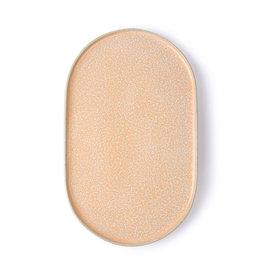 HKliving oval side plate - peach