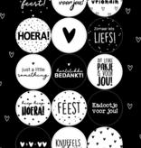 A5 stickervel met 15 verschillende zwart/ wit stickers