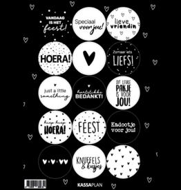 A5 stickervel met 15 verschillende stickers