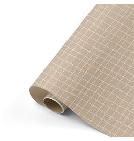 Rol inpakpapier kraft/wit 300x50cm