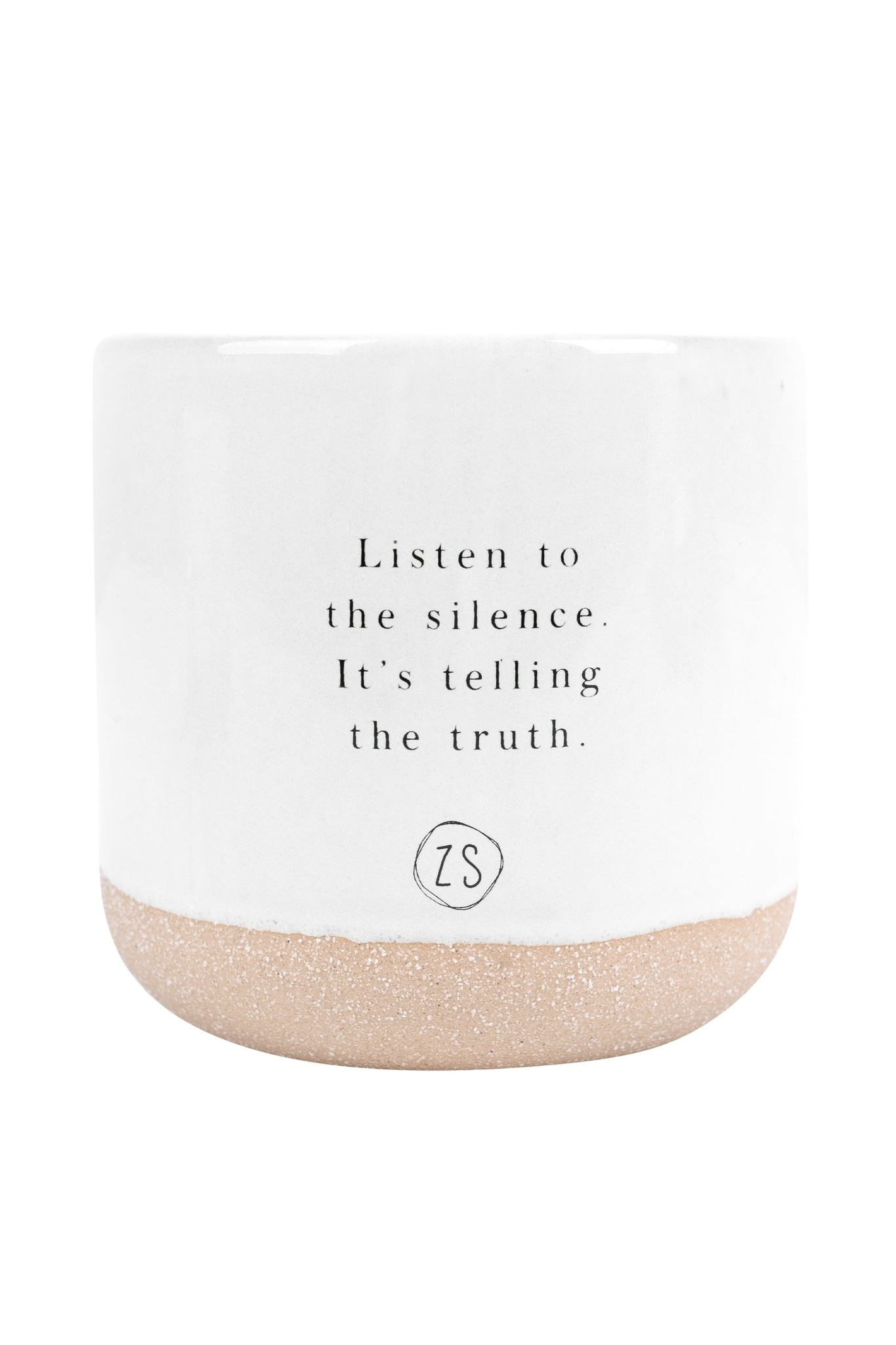 Zusss geurkaars keramiek - listen to the silence