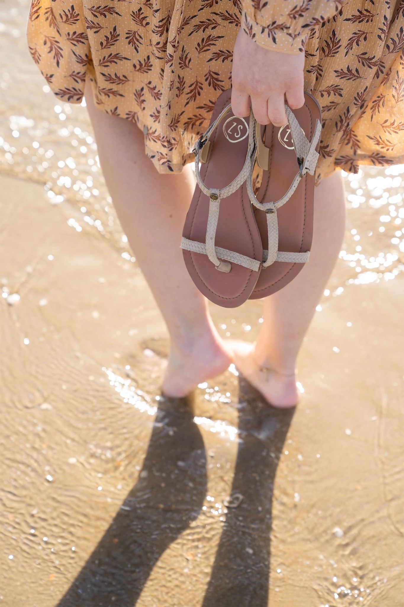 Zusss Fijne sandaal - zand