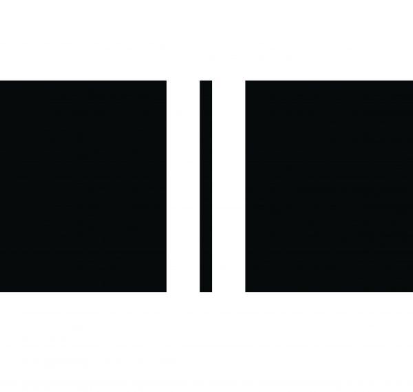 Outdoor kussen zwart 2 strepen wit  - 60x40cm
