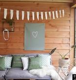 Tuinposter zomer geluk wit - 60x80cm