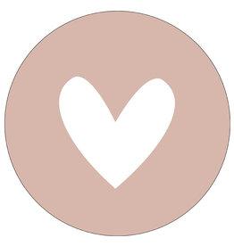 Muurcirkel hart oudrose - 40cm
