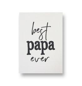 Wenskaart - best papa ever