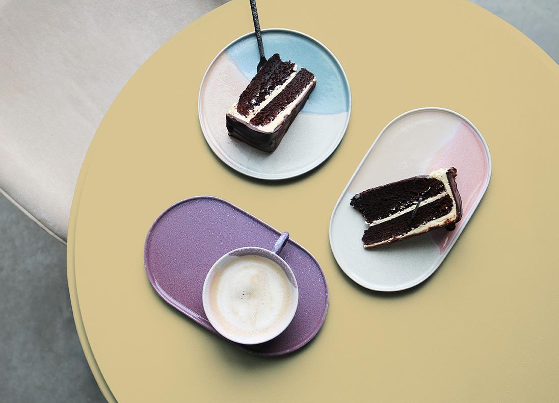 HKliving oval side plate - pink/nude