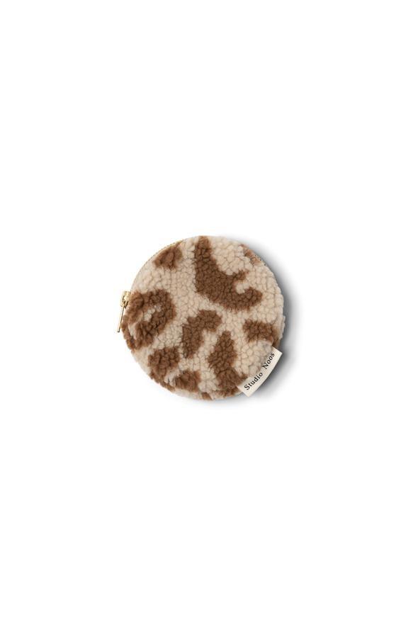 Studio Noos teddy leopard ecru wallet