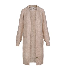 Zusss simpel lang vest - taupe