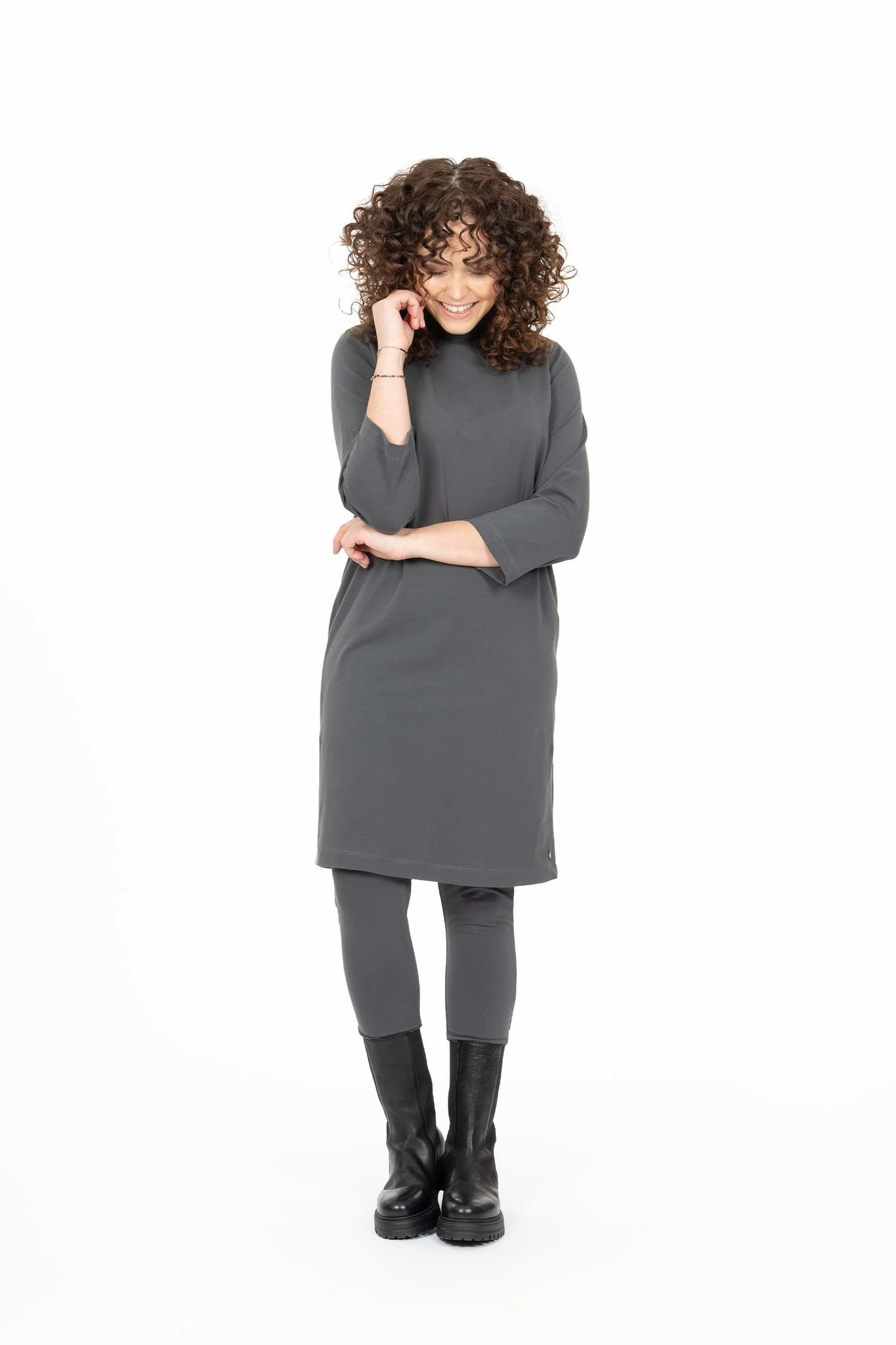 Zusss vlotte legging - antracietgrijs