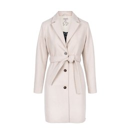 Zusss wollige trenchcoat crème