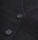 Zusss vest met knopen zwart