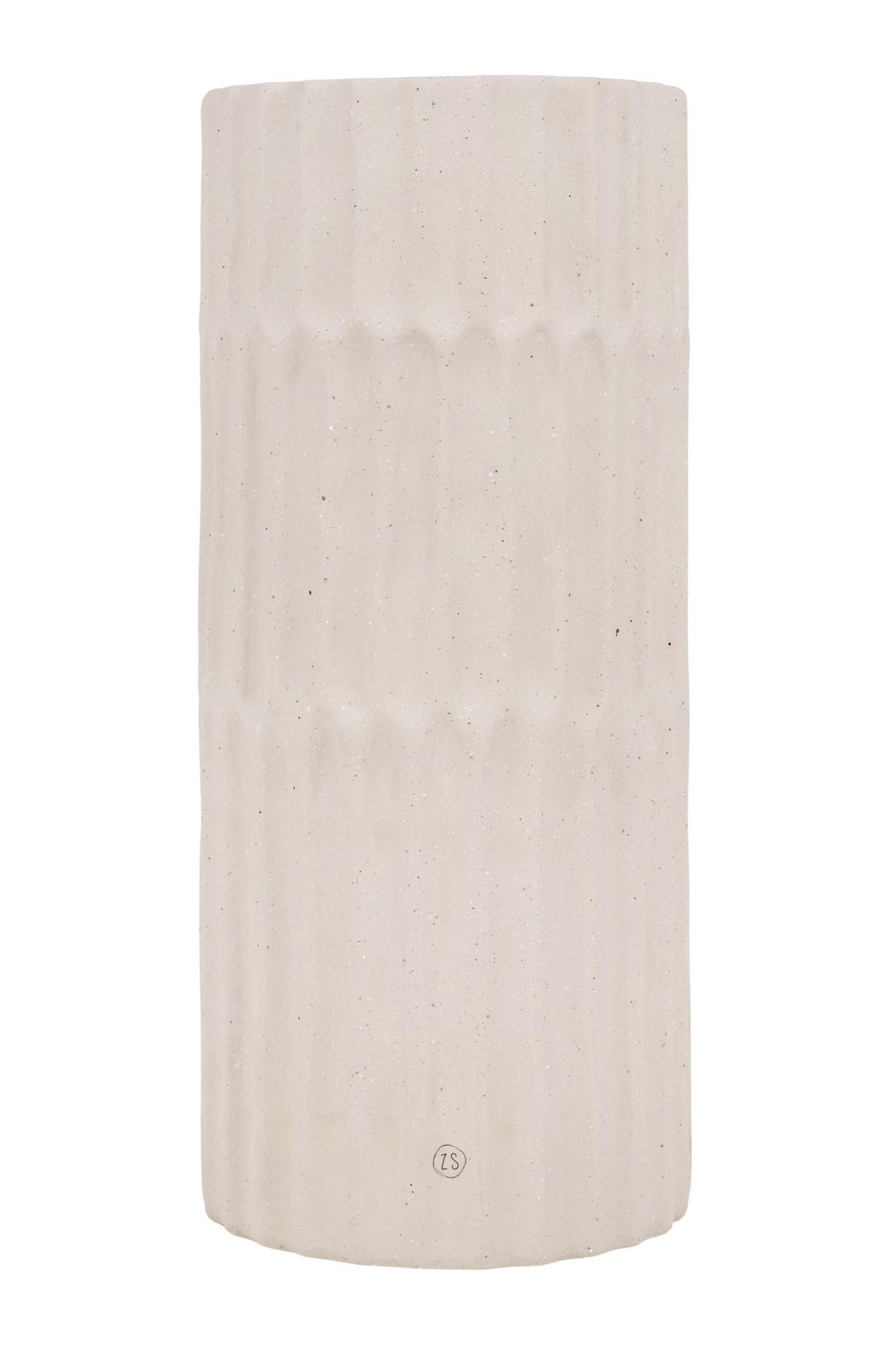 Zusss ribbelvaas keramiek spikkels - zand