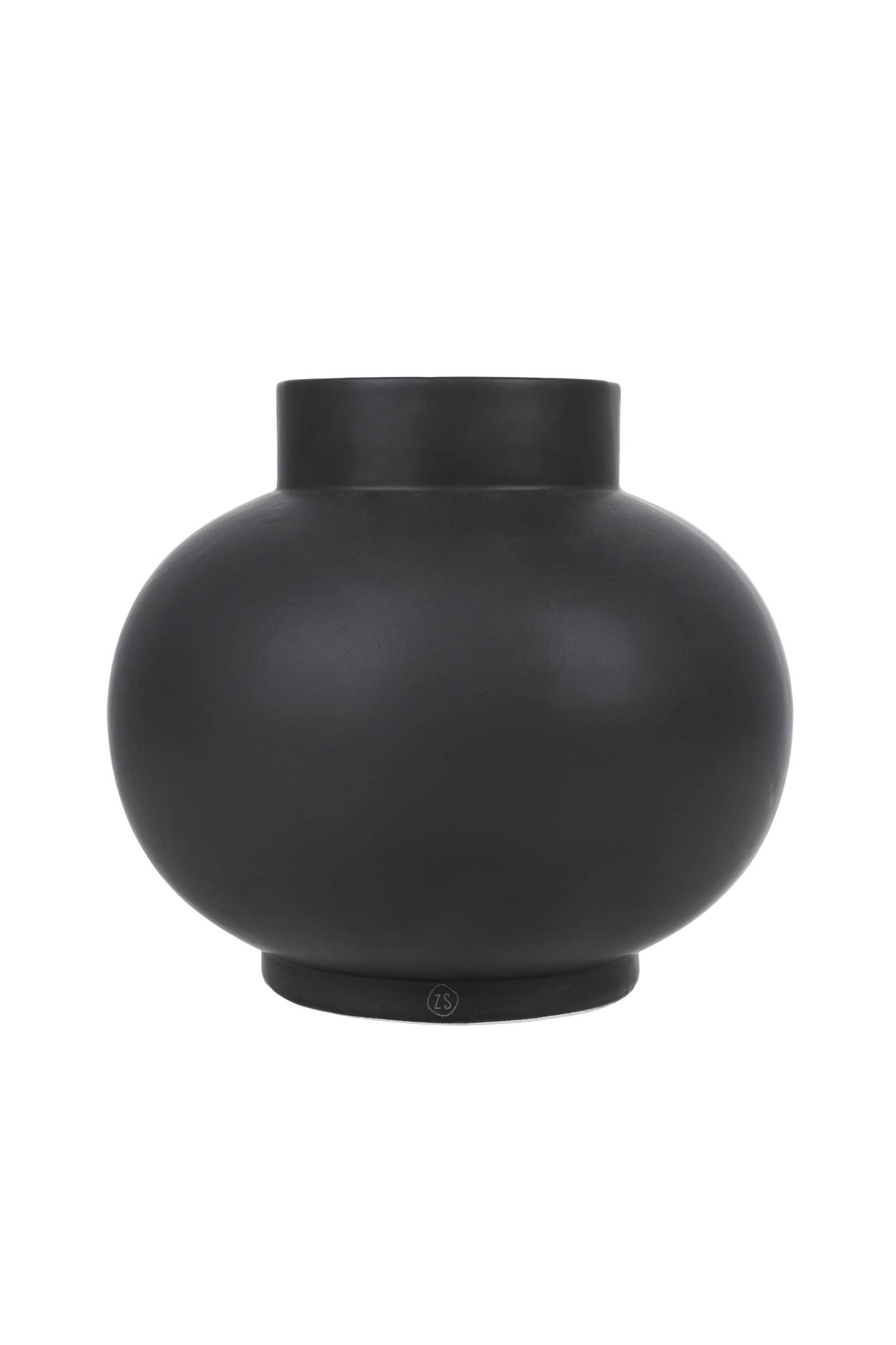 Zusss Keramieken bolvaas - zwart