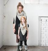 Zusss Sjaal om in te wonen 75x210cm, poedergrijs
