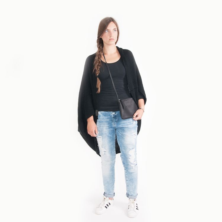 Zusss Vest-Sjaal, zwart