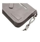 Zusss Handig klein tasje 11x18x4,5cm, poedergrijs