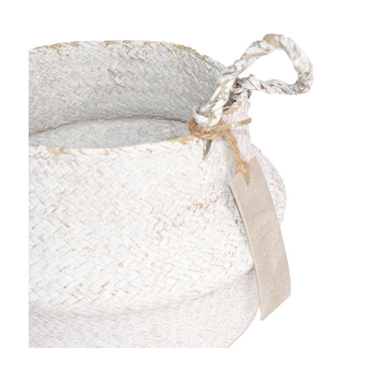 Zusss gevouwen mand/schaal Ø29 maat L, wit