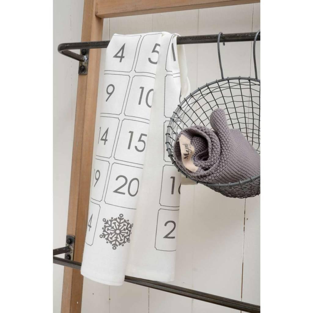 IB Laursen opbergmand 'hangingbasket', 19x18cm, zink