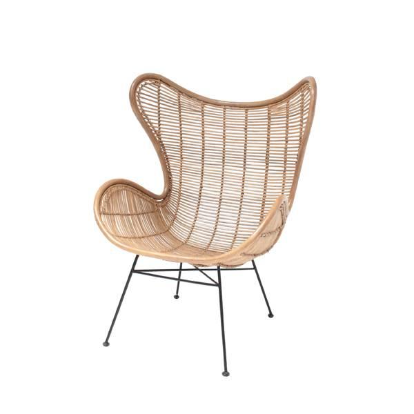 HKliving Rotan stoel 100x63x63cm, bruin