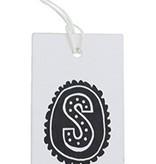 Label 'van Sint' karton 4x8cm wit