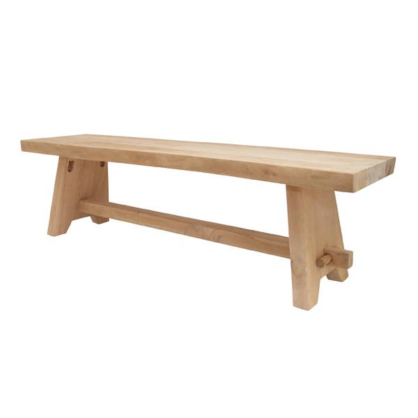 bankje hout 160x40x45cm, naturel - label123
