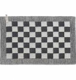 Knit Factory Gebreide placemat 'grote blok' ercu/antraciet 50x30cm