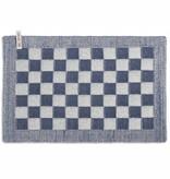 Knit Factory Gebreide placemat 'grote blok' ercu/jeans 50x30cm