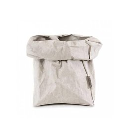 Uashmama Paper Bag Large Plus grijs