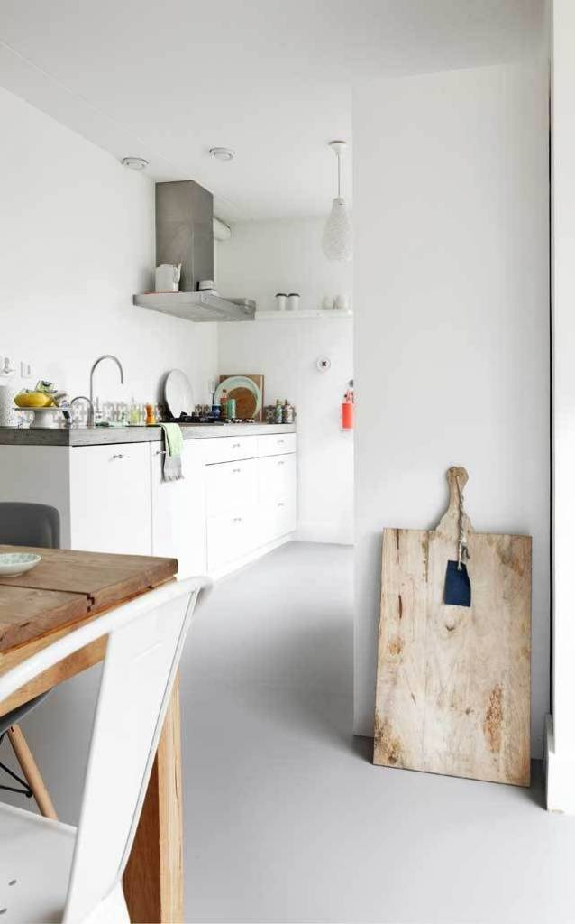 HK Living Broodplank rechthoek 45x90cm, wit