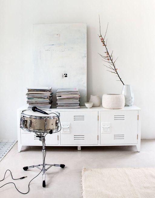 HK Living TV meubel hout 57x160x40cm, wit