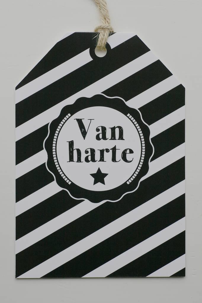 Wenskaart - Van Harte -
