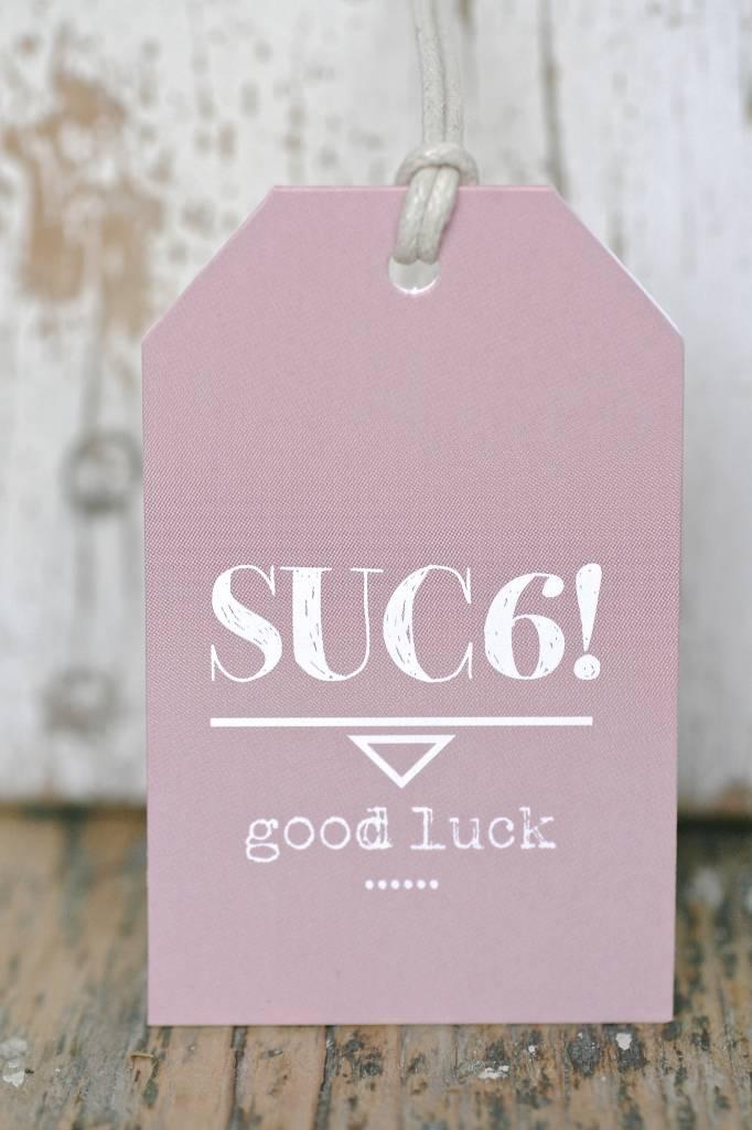 Kadokaartje - Succes - Good Luck