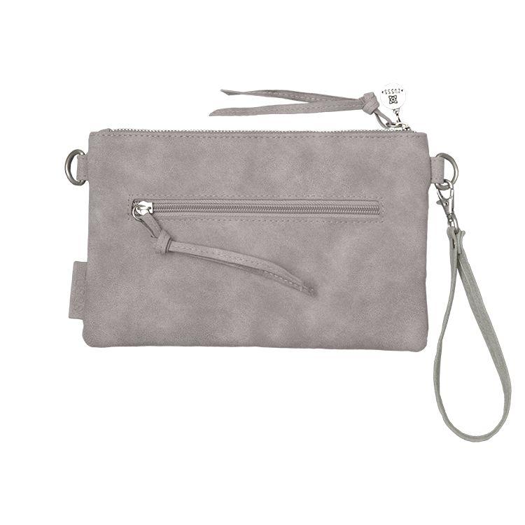 Zusss Eenvoudige tas S 25x15cm, poedergrijs