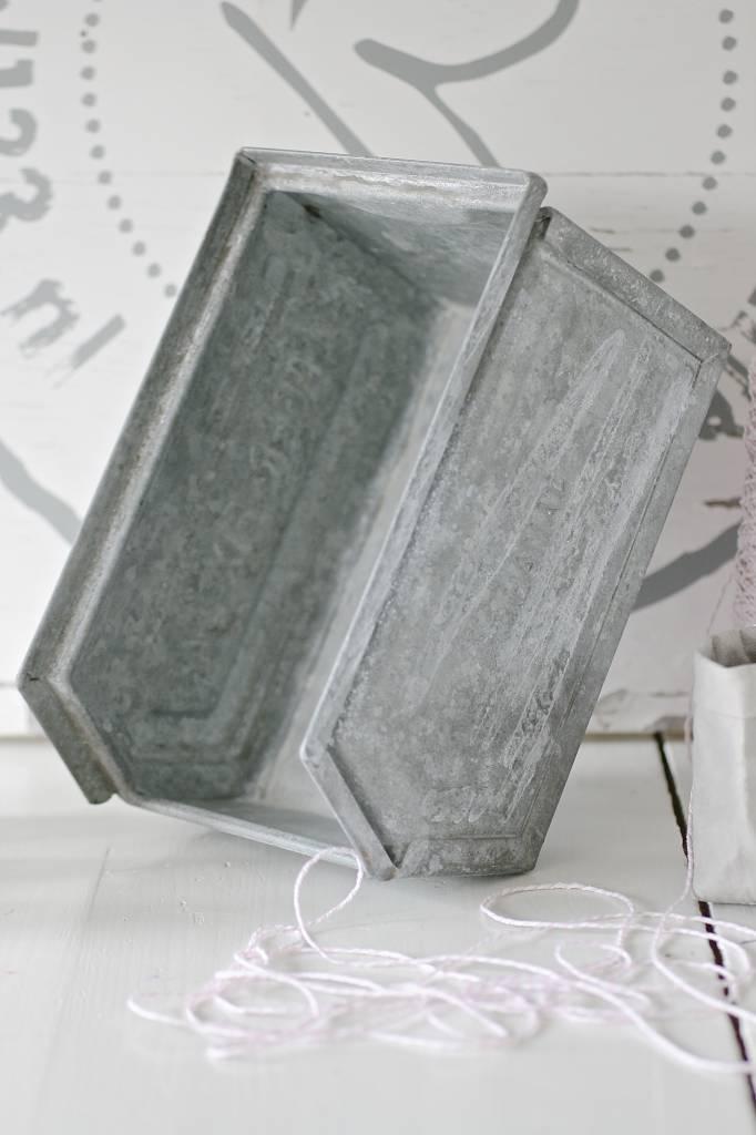 Zinken magazijnbak maat M, 23x15x13cm