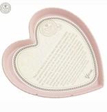 Bakvorm hart groot roze, 30x3cm