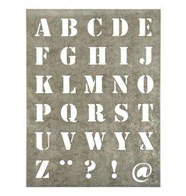 IB Laursen Sjabloon letter L, zink