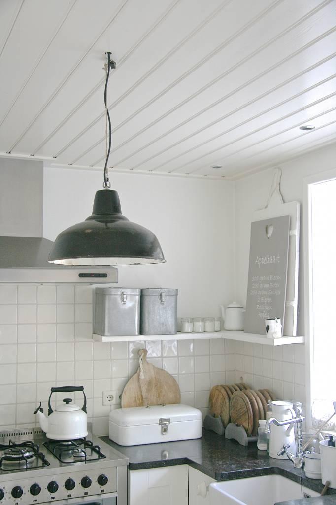 industriële atelier lamp emaille zwart
