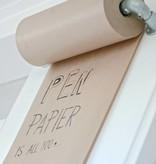 Rol inpakpapier met frame 70x21x10cm, kraft