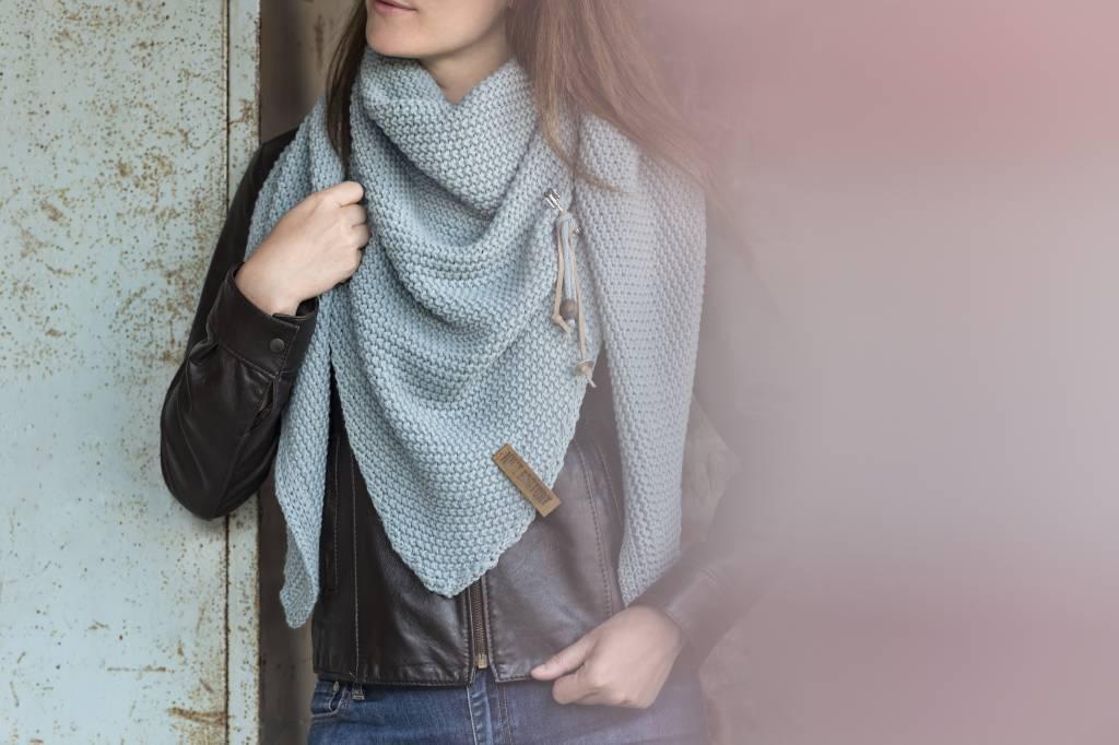 Knit Factory Omslagdoek / sjaal 85x200cm, antraciet