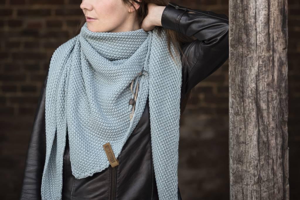 Knit Factory Omslagdoek / sjaal 85x200cm, lichtgrijs