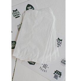 Papieren witte zakjes 10x15cm, 10 stuks
