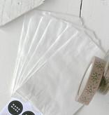 Papieren witte zakjes 13x19cm wit, 10 stuks