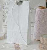 Papieren blokbodem zakjes 10,5x6x17cm, wit, 10 stuks