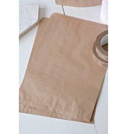 Papieren craft zakjes 23x35cm, 10 stuks